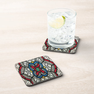 Vintage Stainglass Pattern Set of 6 Coasters