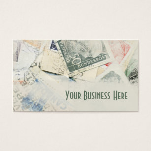 Stamp collector business cards templates zazzle vintage stamp collection business card colourmoves Images
