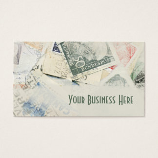 Vintage Stamp Collection Business Card