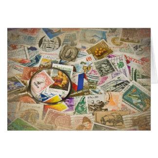 Vintage Stamps Card
