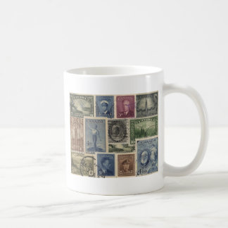 Vintage Stamps Collage Coffee Mug