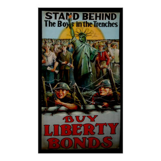 Vintage Stand Behind the Boys in the Trenches Poster