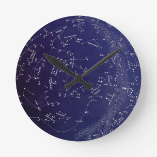 Vintage Star Constellation Map Clock