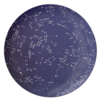 Vintage Star Constellation Map Melamine Plate