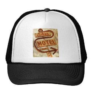 Vintage Star Motel Sign Mesh Hats