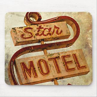 Vintage Star Motel Sign Mouse Pad