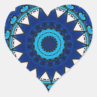 Vintage star motif  Ottoman Turkish tile design Heart Sticker