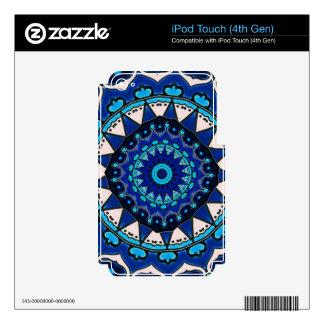 Vintage star motif  Ottoman Turkish tile design iPod Touch 4G Skin