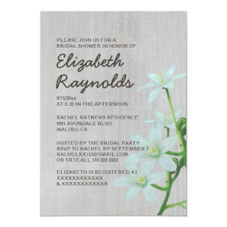 Vintage Star of Bethlehem Bridal Shower Invitation