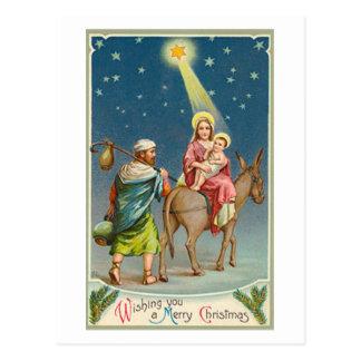 Vintage Star Of Bethlehem Card Postcards
