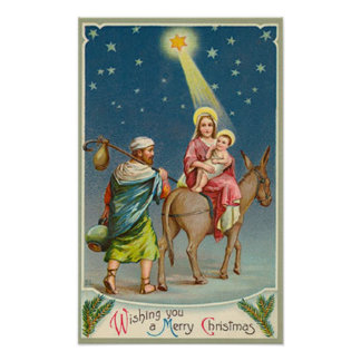 Vintage Star Of Bethlehem Card Posters