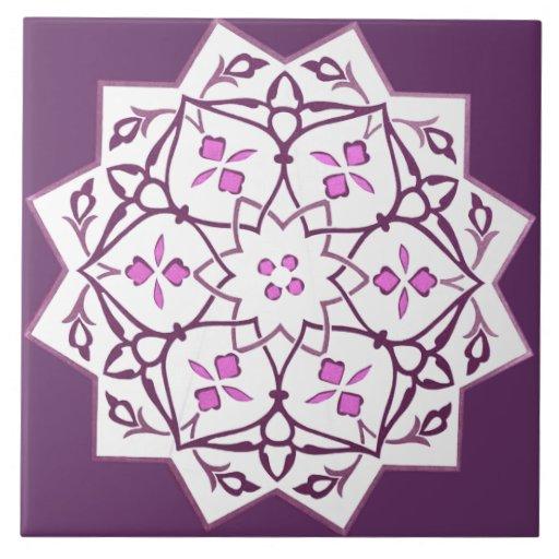 Vintage Star Shape Geometric Pattern Tile