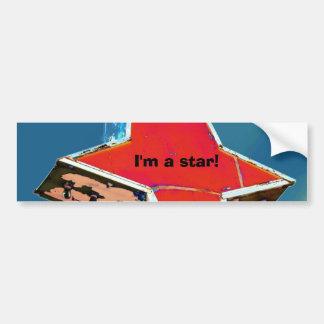vintage star sign car bumper sticker