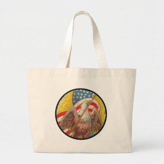 Vintage Star Spangled Banner Large Tote Bag