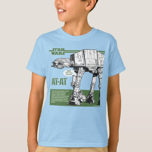Vintage Star Wars AT_AT Walker Model Box Art T_Shirt