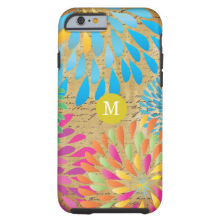 Vintage StarBurst Flower Personalized iPhone 5 Tough iPhone 6 Case