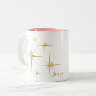 Vintage Starburst Personalized Coffee Mug
