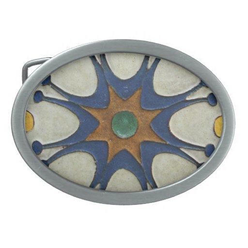 Vintage Starburst Tile Belt Buckles