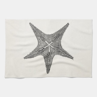Vintage Starfish Antique Star Fish Template Hand Towel
