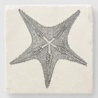 Vintage Starfish Antique Star Fish Template Stone Coaster