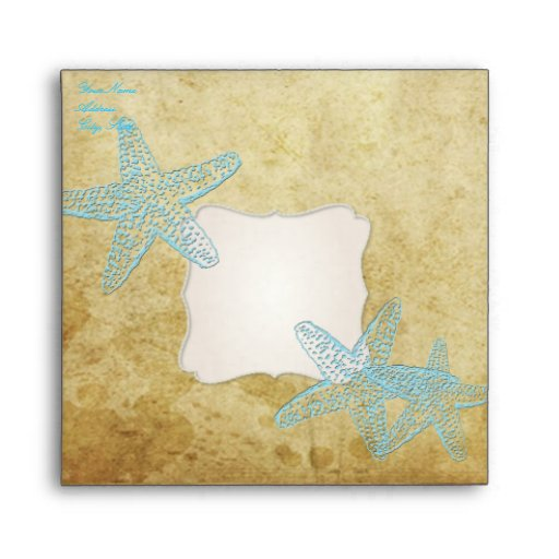 Vintage Starfish Envelope