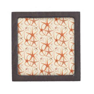 Vintage Starfish Illustration Jewelry Box