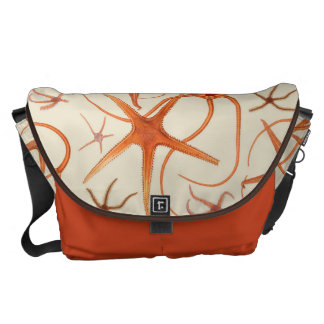 Vintage Starfish Illustration Courier Bags