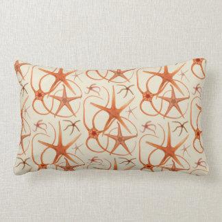 Vintage Starfish Illustration Pillow