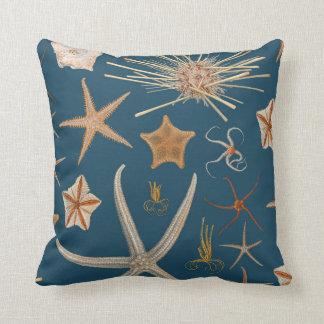 Vintage Starfish Throw Pillow