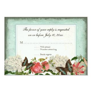 Vintage Stargazer Lily Rose Butterfly n Hydrangea Card