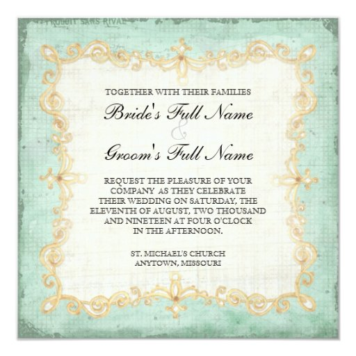 Vintage Stargazer Lily Rose Butterfly n Hydrangea Personalized Invitations