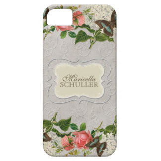 Vintage Stargazer Lily Rose Butterfly n Hydrangea iPhone SE/5/5s Case