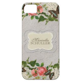 Vintage Stargazer Lily Rose Butterfly n Hydrangea iPhone SE/5/5s Case