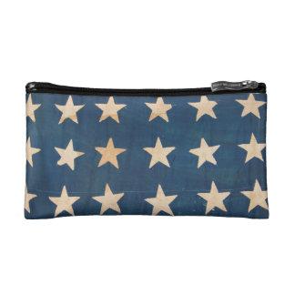 Vintage Stars American Flag Makeup Bags
