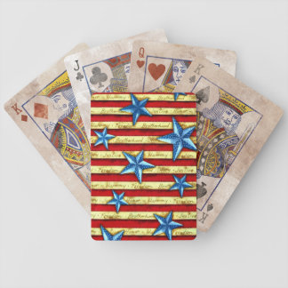 Vintage Stars and Bars Memorial Day Bicycle Playing Cards