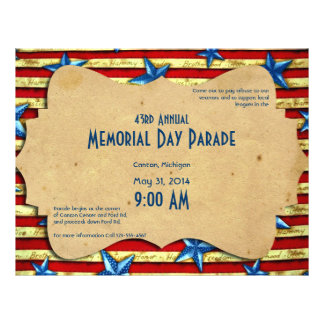 Vintage Stars and Bars Memorial Day Flyer