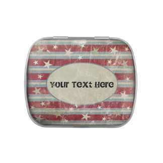 Vintage Stars and Stripes Candy Tins