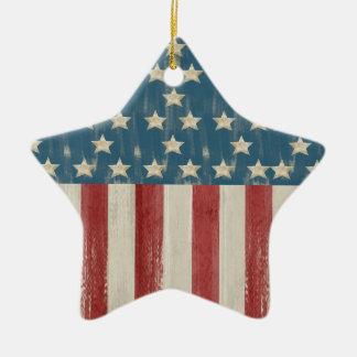 Vintage Stars and Stripes Christmas Ornament