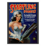 """Vintage """"Startling Stories"""" pulp comic Poster"""