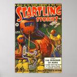 Vintage Startling Stories Pulp Science Fiction Poster