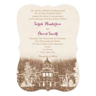 Vintage State Capitol Pride Wedding 5x7 Invitation