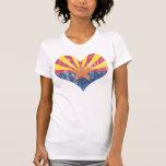 Vintage State Flag of Arizona Heart T-Shirt