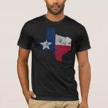"Vintage State Outline of Texas Flag T-Shirt<br><div class=""desc"">Vintage State Outline of Texas Flag Style: Men&#39;s Basic American Apparel T-Shirt</div>"