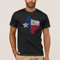 Vintage State Outline of Texas Flag T-Shirt