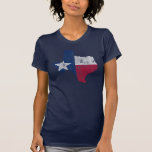 Vintage State Outline of Texas Flag Tee Shirt