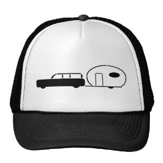 Vintage Station Wagon and RV Trailer Mesh Hats