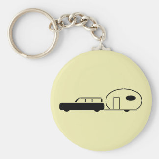 Vintage Station Wagon and RV Trailer Keychain