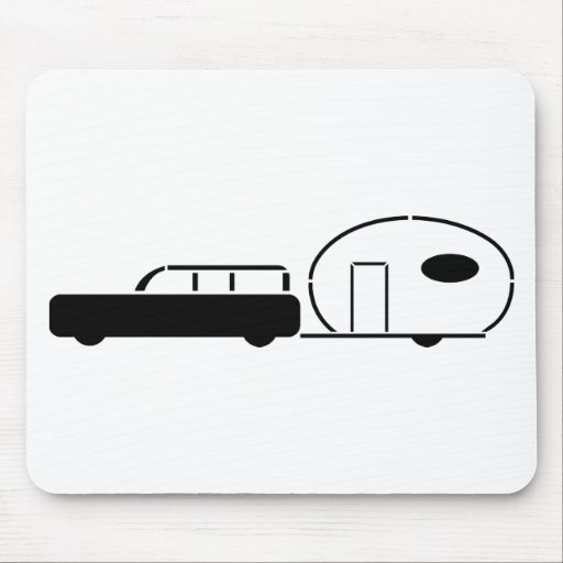 Vintage Station Wagon and RV Trailer Mouse Pads