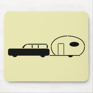 Vintage Station Wagon and RV Trailer Mouse Pad