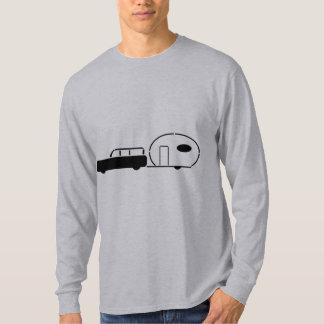Vintage Station Wagon and RV Trailer T-Shirt